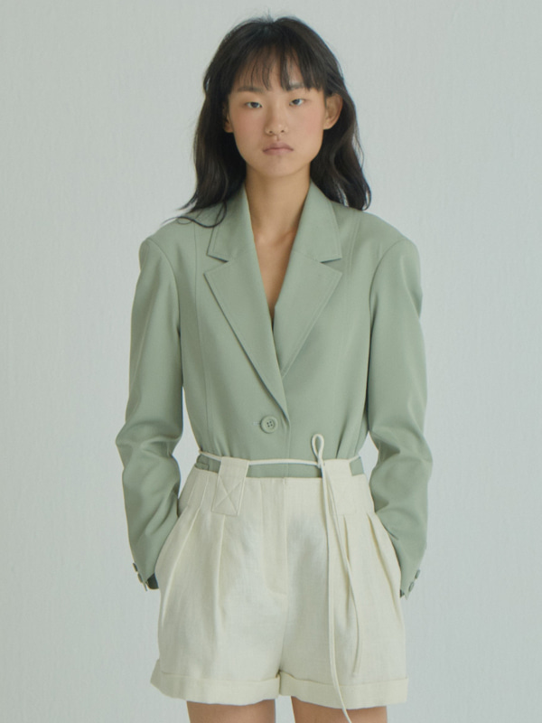 Curved arm Jacket / Light Khaki